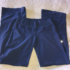 Lululemon navy blue wide leg lounge pants